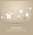 phone icon on a brown background with elegant vector image vector image