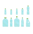 Plastic Different Bottles Set for Liquid vector image vector image