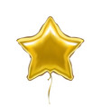 Realistic detailed 3d golden star balloon