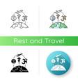 religious tourism icon vector image