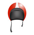 retro motorcycle helmet in red design vector image vector image