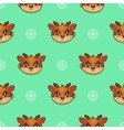 seamless pattern with funny deer vector image