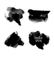 set abstract black ink blots vector image vector image