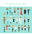 set of different colorful woman professions vector image
