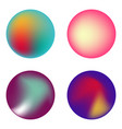 set of holographic fluid circles vector image vector image