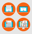 set of icon of concept email marketingonline news vector image vector image