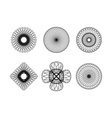Spirograph elements4 vector image vector image