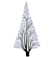 stylized fur-tree vector image