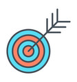 target line icon successful shoot goal sign vector image vector image
