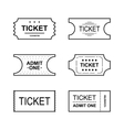 Ticket icon on white background vector image vector image