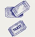 Ticket vector image vector image