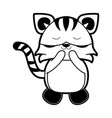 tiger cute animal cartoon icon image vector image vector image
