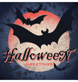vintage grungy Halloween design vector image vector image