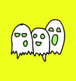 white ghost phantom silhouette isolated on vector image