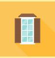 window on wall flat design vector image vector image