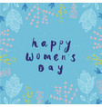 women s day card banner poster hand vector image vector image