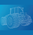 working tractor created of 3d vector image