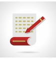 Writing articles abstract flat color icon vector image vector image