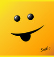 yellow smile smiley face vector image vector image