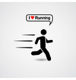 Running icon with text - I love running vector image