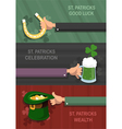 St Patricks Day concept backgrounds vector image