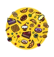 Various Sweets vector image