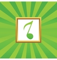 8th note picture icon vector image