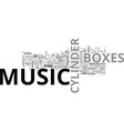 a comparison of disc music boxes and cylinder vector image vector image