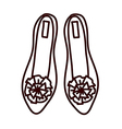 A flat shoes vector image vector image