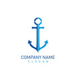 anchor design vector image vector image