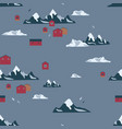 antarctica seamless pattern vector image vector image