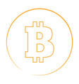 bitcoin currency logo vector image