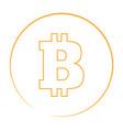 bitcoin currency logo vector image vector image