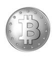 bitcoin silver coin vector image