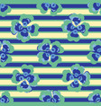 bright summer flower stripes seamless vector image vector image