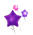bunch star shape balloons vector image vector image