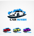 car wash set with any color concept logo icon vector image vector image
