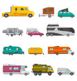caravan camping trailer and rv caravanning vector image vector image