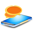 Chat on smartphone vector image vector image