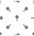 checkered air balloon pattern seamless black vector image vector image