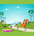 children play in the playground vector image vector image