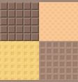 chocolate and waffle pattern vector image