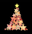 christmas background abstract tree vector image vector image