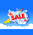 christmas sale poster banner design template vector image