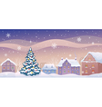Christmas town vector image vector image