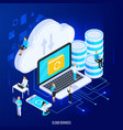 cloud services conceptual composition vector image vector image
