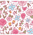 cool doodle floral pattern vector image vector image