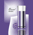 cosmetics advertisement flyer in violet design vector image