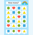 counting game for preschool children the study of vector image