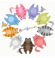 Cute cats Birthday card vector image vector image